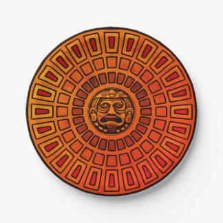 Aztec disc paper plate