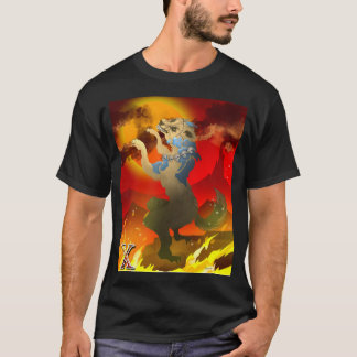 Aztec Dog of the Dead Design T-Shirt