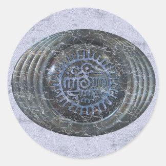 Aztec Eagle Round Sticker