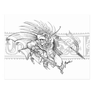 Aztec Eagle Warrior Postcard