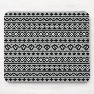 Aztec Essence Horizontal Ptn II Black White Grey Mouse Mat
