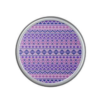 Aztec Essence II Horizontal Ptn Pinks Blue Purple Speaker