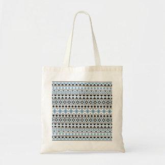 Aztec Essence II Pattern Blue Black White Tote Bag