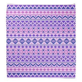 Aztec Essence II Pattern Pinks Blue Purple Bandana
