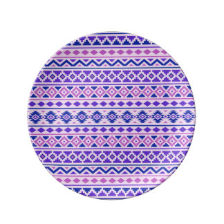 Aztec Essence II Pattern Pinks Blue Purple Plate