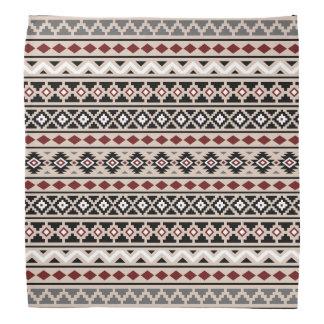 Aztec Essence II Ptn Black White Grey Red Sand Bandanna