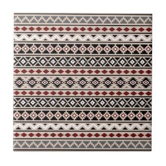 Aztec Essence II Ptn Black White Grey Red Sand Tile