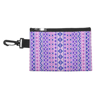 Aztec Essence II Vertical Ptn Pinks Blue Purple Accessory Bag