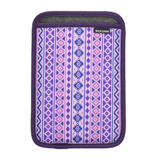 Aztec Essence II Vertical Ptn Pinks Blue Purple iPad Mini Sleeve