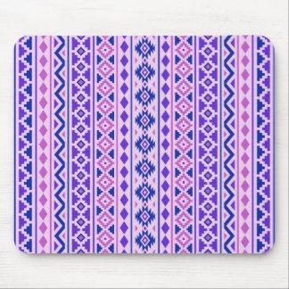 Aztec Essence II Vertical Ptn Pinks Blue Purple Mouse Mat
