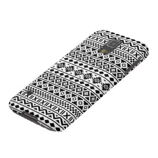 Aztec Essence Pattern Black on White Case For Galaxy S5