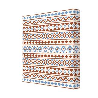 Aztec Essence Pattern II Rust Blue Cream Canvas Print