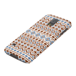 Aztec Essence Pattern II Rust Blue Cream Galaxy S5 Cases