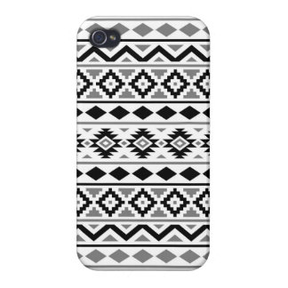 Aztec Essence Pattern III Black White Gray iPhone 4 Cover