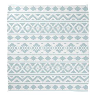 Aztec Essence Ptn III Duck Egg Blue on White Do-rags