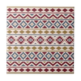 Aztec Essence Ptn III Red Blue Gold Cream Tile