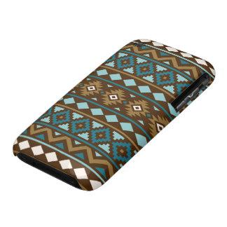 Aztec Essence Ptn III Teals Gold Cream Brown Case-Mate iPhone 3 Case