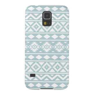 Aztec Essence Ptn III White on Duck Egg Blue Case For Galaxy S5
