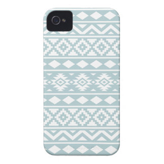 Aztec Essence Ptn III White on Duck Egg Blue iPhone 4 Cover