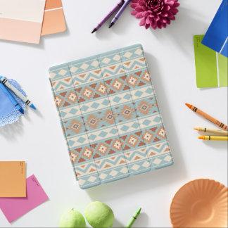 Aztec Essence Ptn IIIb Blue Cream Terracottas iPad Cover