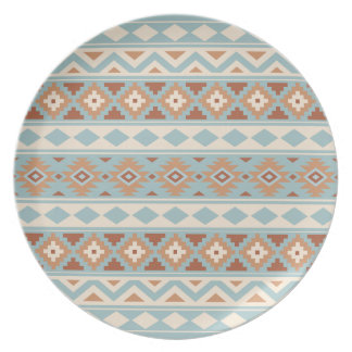 Aztec Essence Ptn IIIb Blue Cream Terracottas Plate