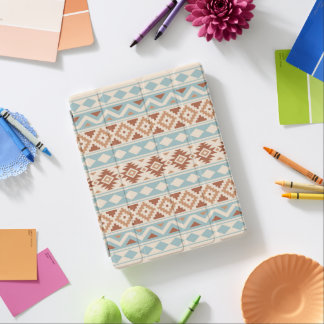 Aztec Essence Ptn IIIb Cream Blue Terracottas iPad Cover