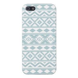 Aztec Essence Ptn IIIb Duck Egg Blue & White iPhone 5 Cases