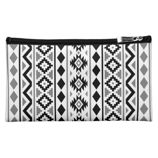 Aztec Essence (V) Pattern III Black White Grey