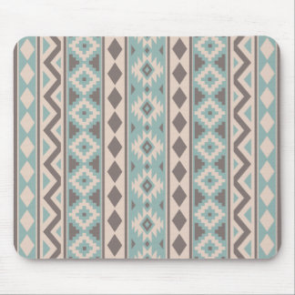 Aztec Essence V Ptn IIIb Taupe Teal Cream Mouse Mat