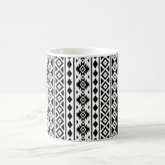 Aztec Essence Vertical Ptn I Black on White Coffee Mug