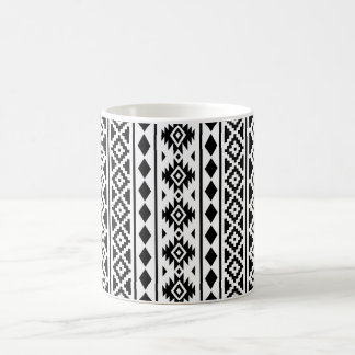 Aztec Essence Vertical Ptn II Black on White Coffee Mug