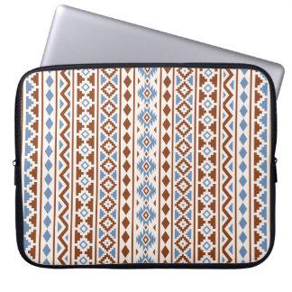 Aztec Essence Vertical Ptn II Rust Blue Cream Laptop Sleeve