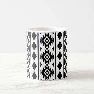 Aztec Essence Vertical Ptn III Black on White Coffee Mug