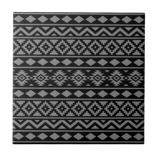 Aztec Essence Vertical Ptn III Grey on Black Tile