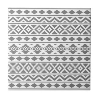 Aztec Essence Vertical Ptn III Grey on White Tile