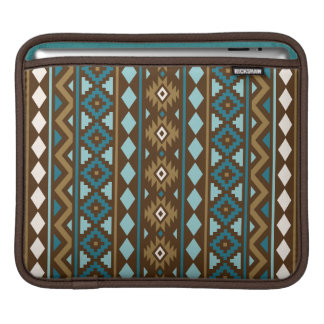 Aztec Essence Vertical Ptn III Teals Gld Crm Brwn iPad Sleeve