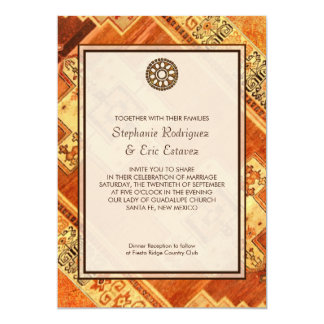 Aztec Fiesta Wedding Card