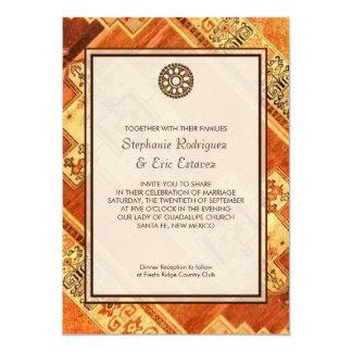 "Aztec Fiesta Wedding 5"" X 7"" Invitation Card"
