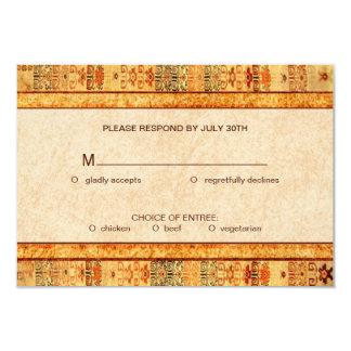 Aztec Fiesta Wedding Set RSVP 3.5x5 Paper Invitation Card