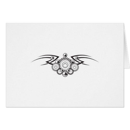 Aztec Flower Tattoo Design Card