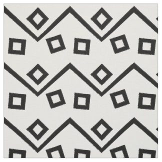 Aztec Geometric Abstract Pattern Fabric