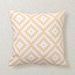Aztec Geometric Pastel Orange Cushion