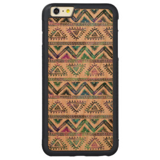 Aztec Geometric Pattern Hand Illustration 2 Carved Cherry iPhone 6 Plus Bumper Case