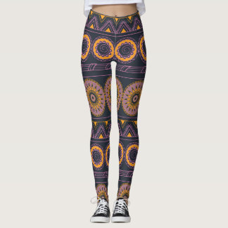 aztec geometric pattern with sends them leggings