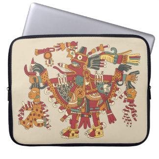 Aztec god laptop sleeve