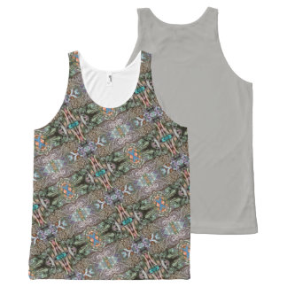 Aztec Gray All-Over Print Tank Top