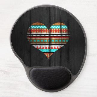 Aztec heart gel mouse mat