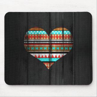 Aztec heart mouse mat