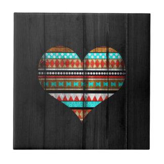 Aztec heart tile