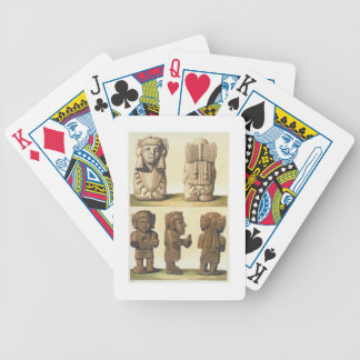 Aztec Idols, Mexico (colour lithograph) Bicycle Playing Cards